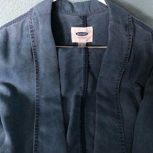 Denim style blazer